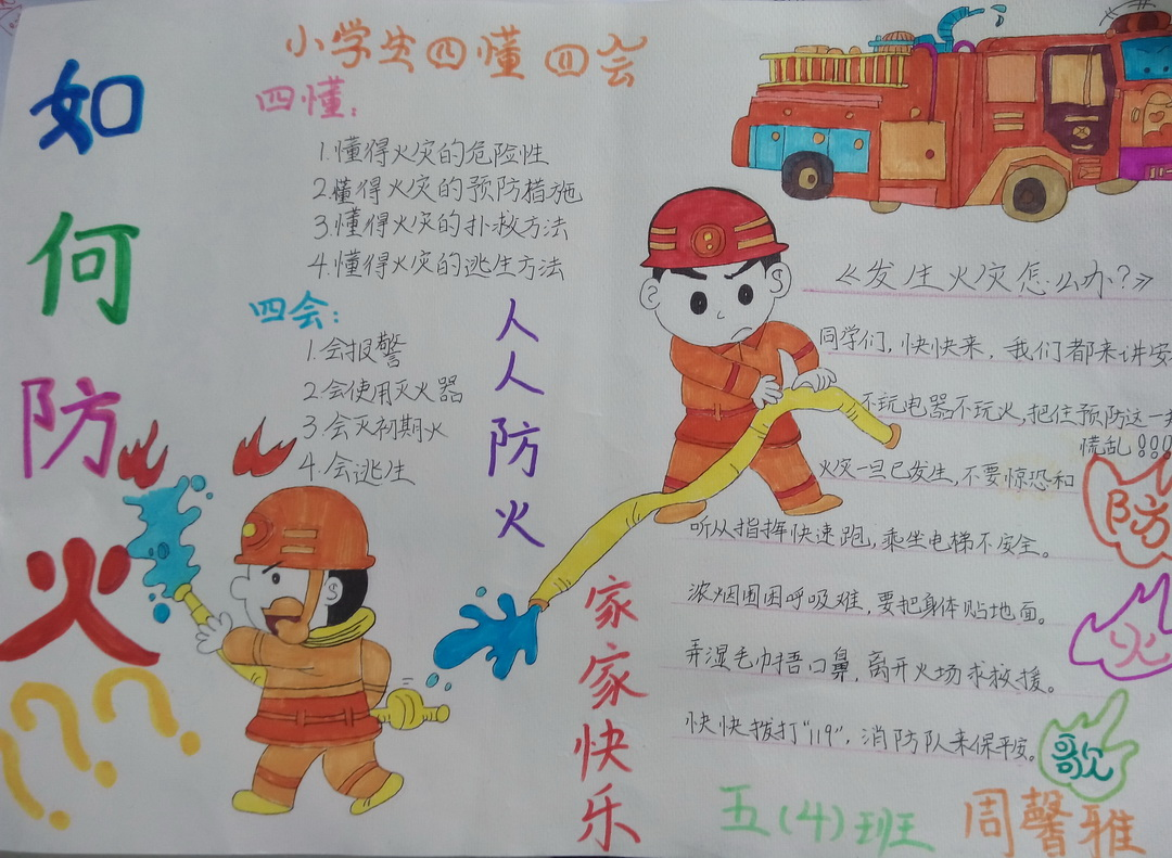 消防安全手抄报图片――如何防火
