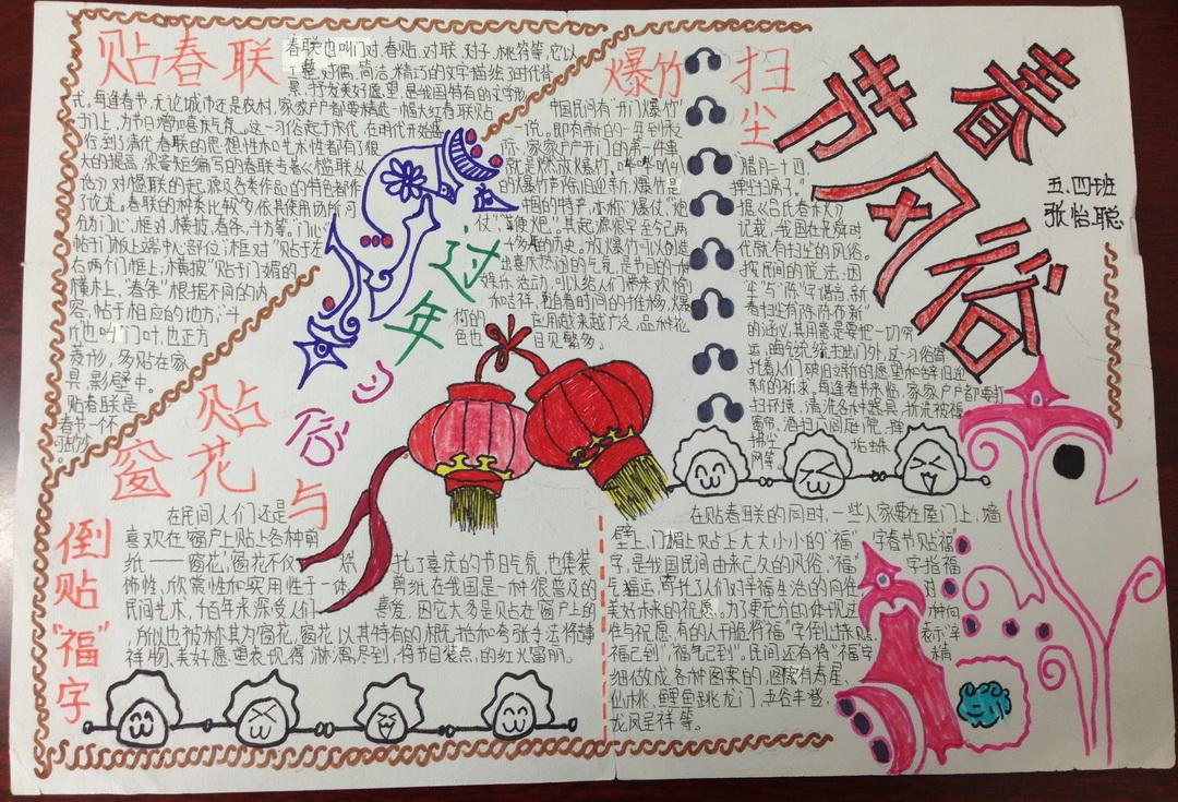 小学一年级春节手抄报