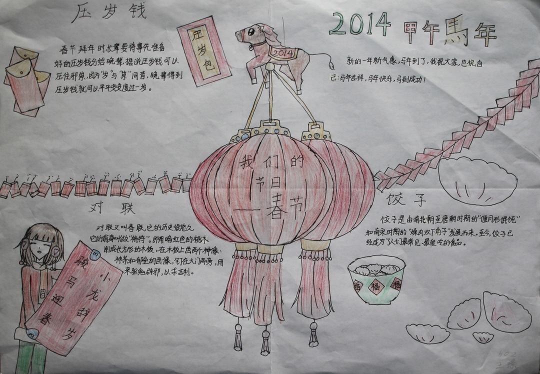 我们的节日手抄报资料――春节