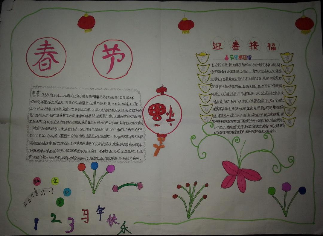 有关春节手抄报版面设计图