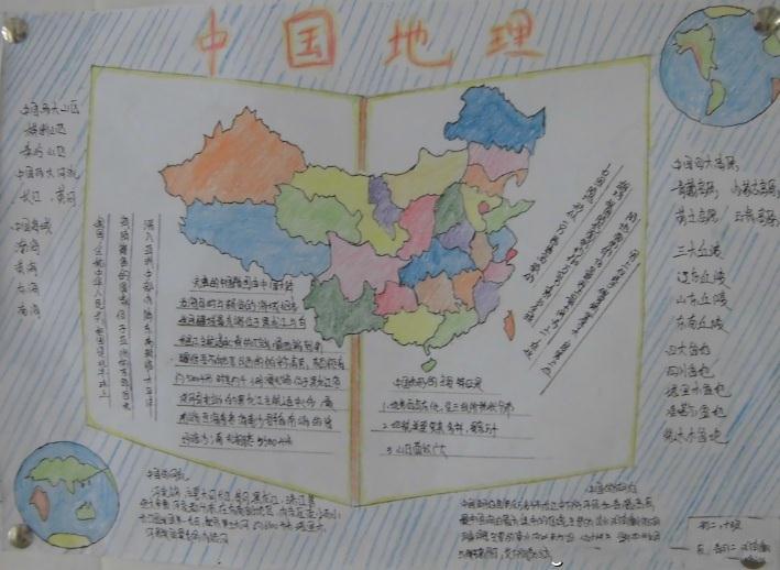 中国地理手抄报版面设计图图片
