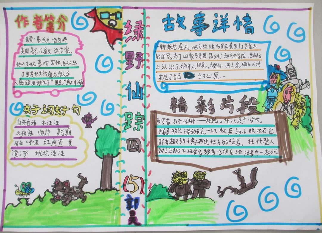 正文内容   苗 苗手抄 报网为你提供小学生绿野仙踪手抄报图片 1,美丽
