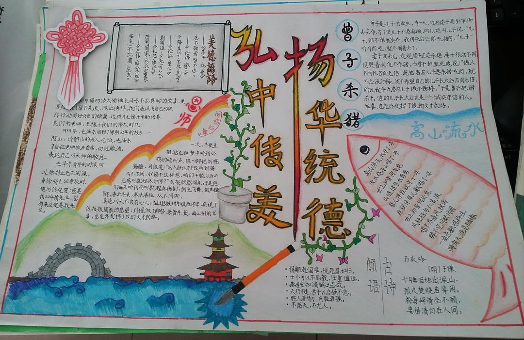 弘扬中华传统美德手抄报图片4张