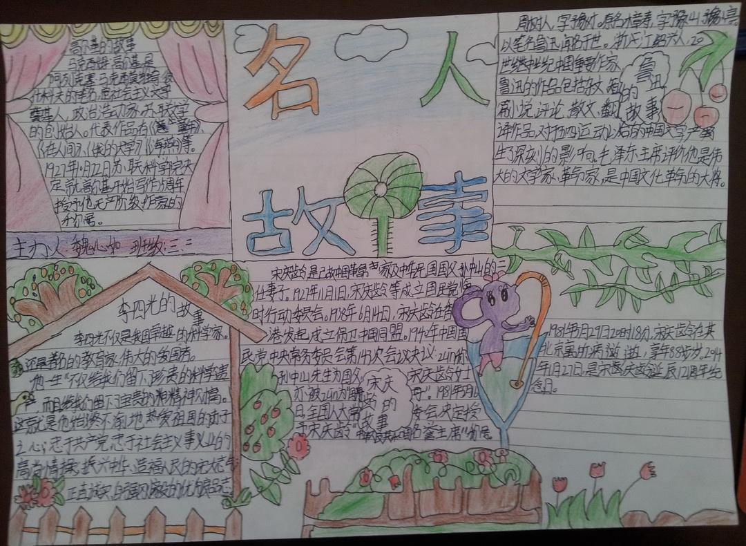 名人故事_小学三年级名人故事手抄报