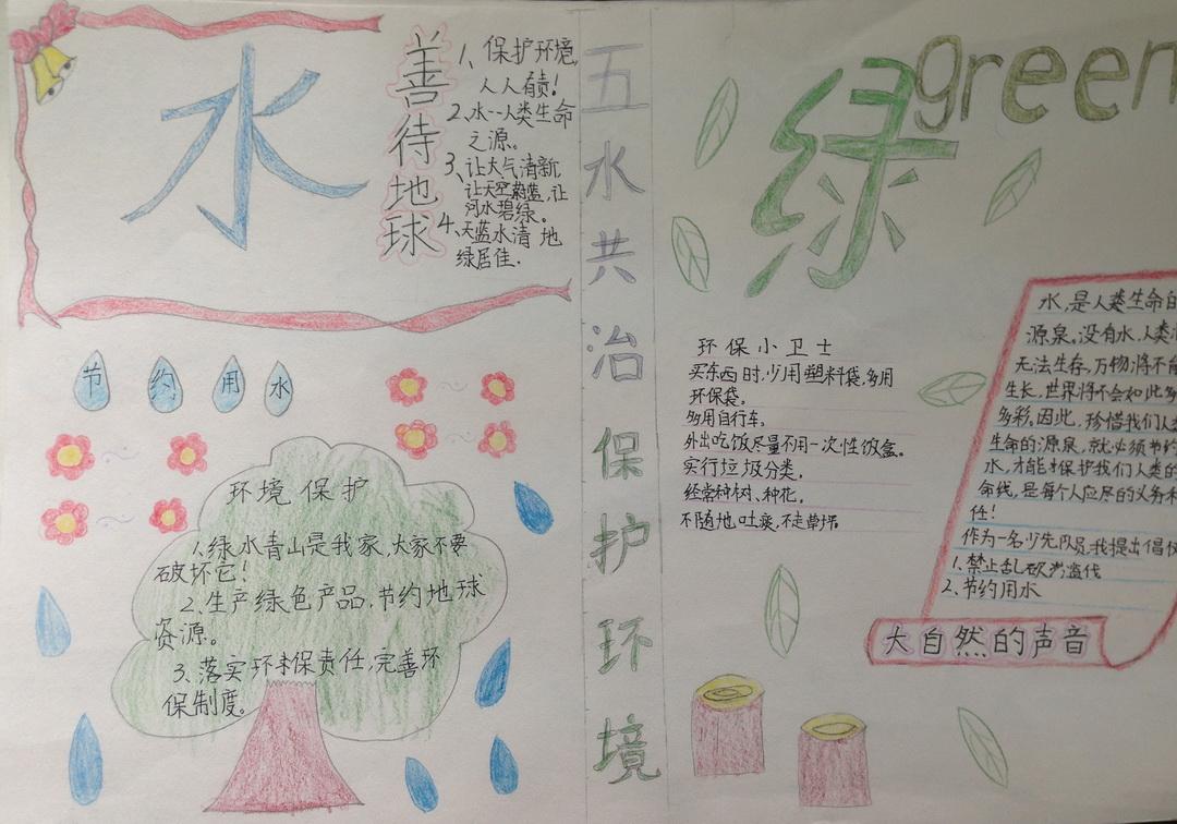 五水共治 保护环境手抄报图片2张图片