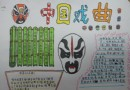 关于中国戏曲手抄报