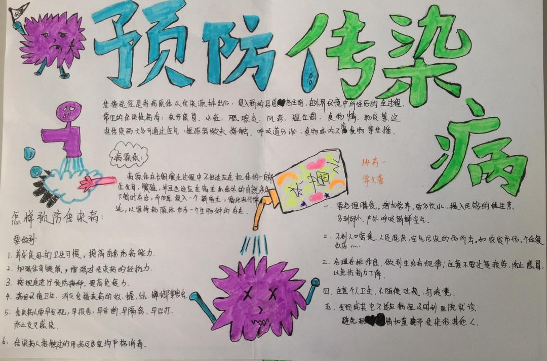 预防疾病的手抄报图片 小学生预防疾病手抄报预防