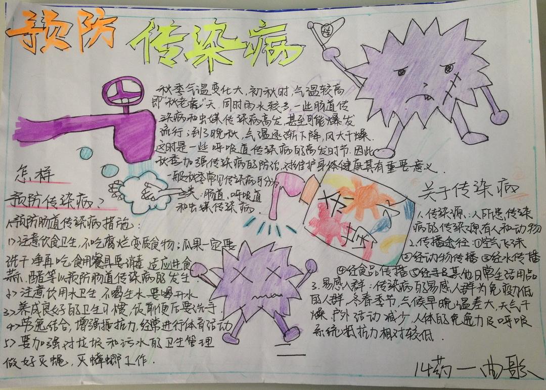 康之园 小学生预防风疹手抄报 > 预防传染病手抄报图片6张