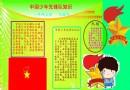 中国少年先锋队知识电子手抄报资料