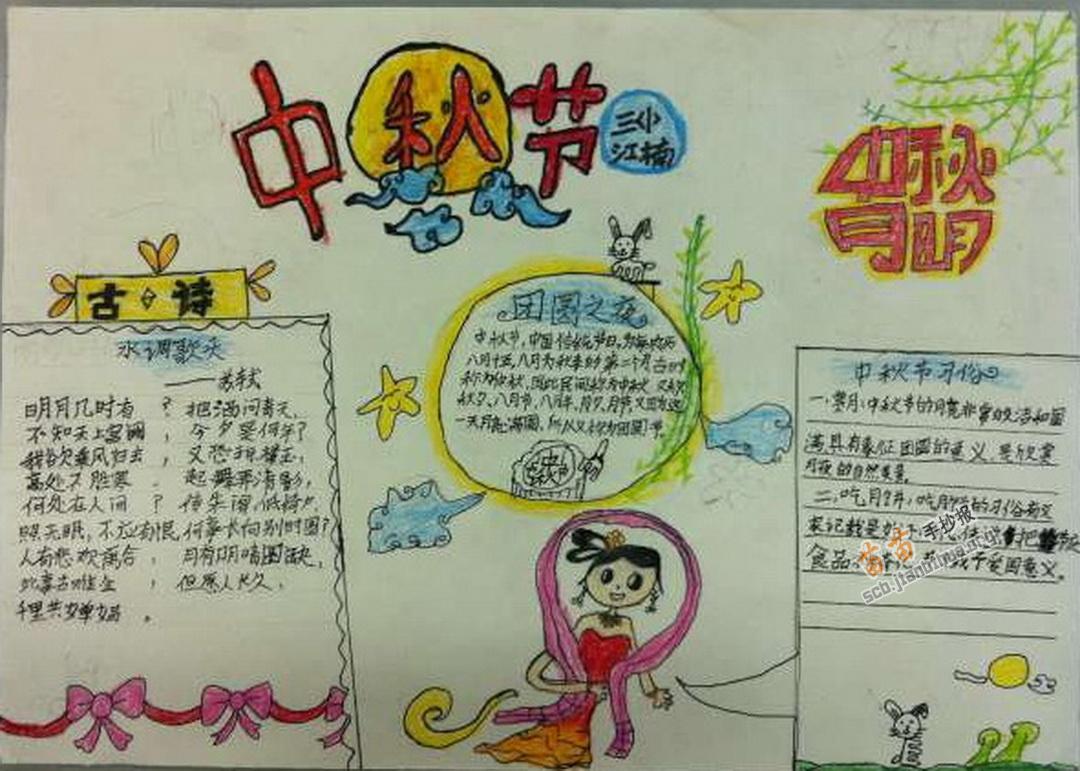 中秋节手抄报图片3幅图片