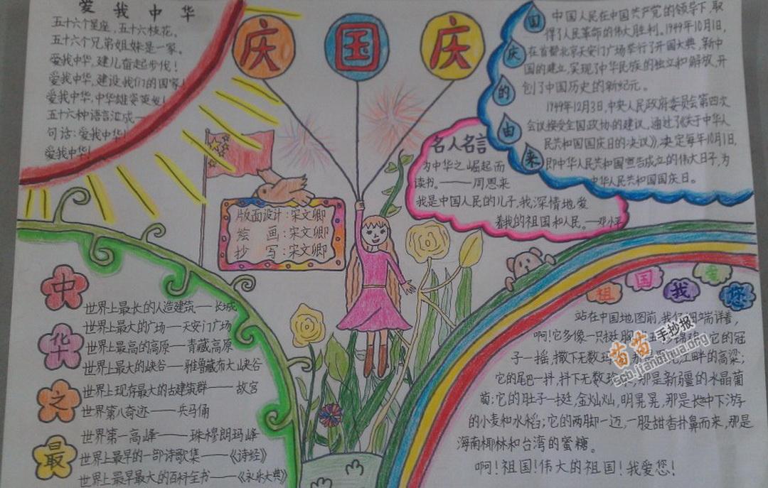 庆国庆手抄报图片,内容