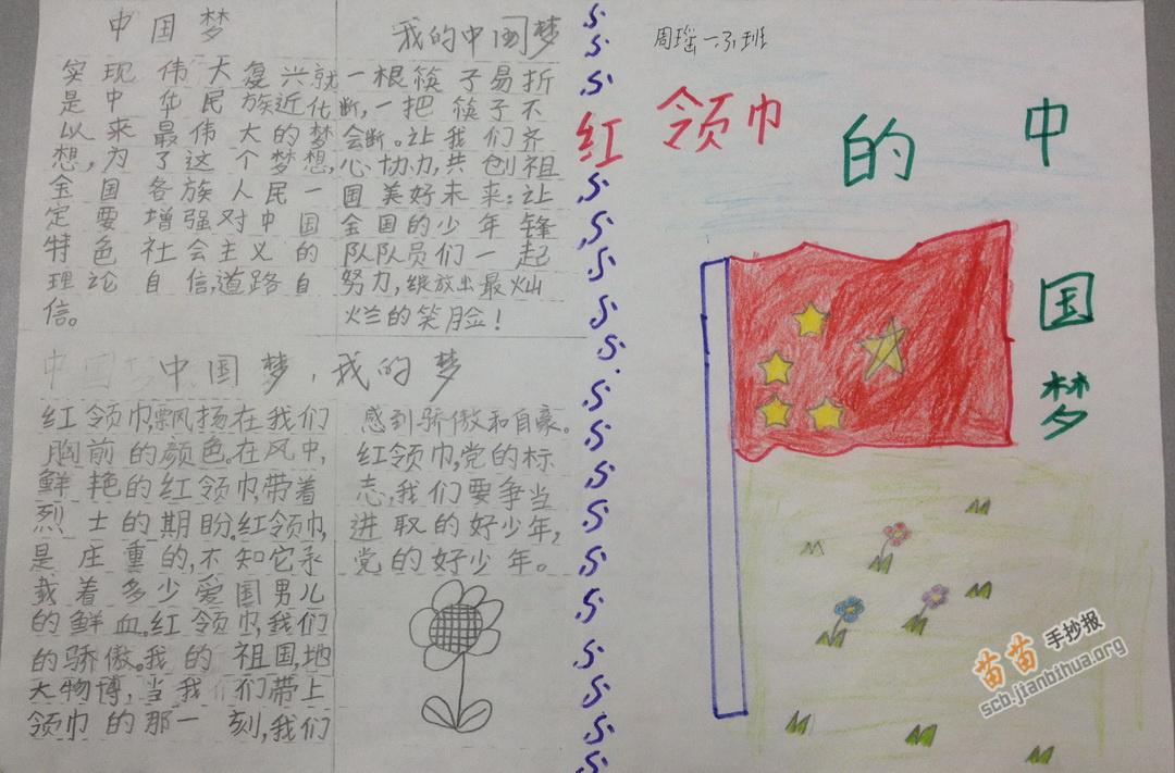红领巾的中国梦手抄报内容