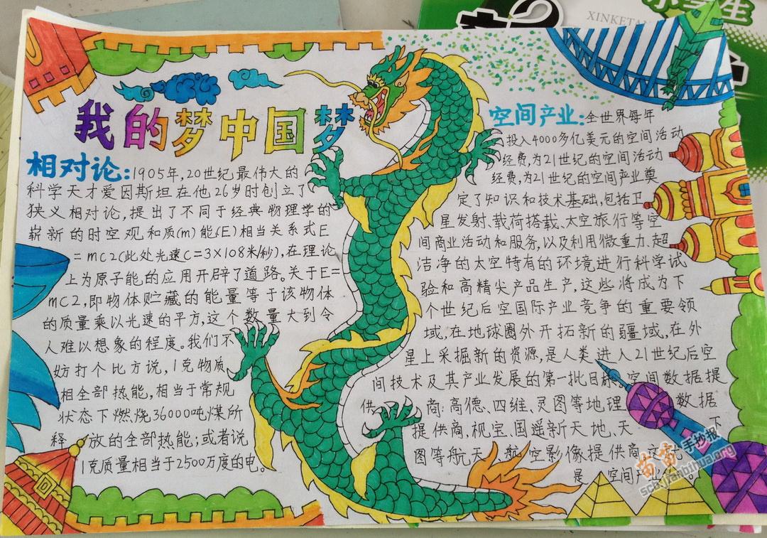 我的梦 中国梦手抄报版面设计图