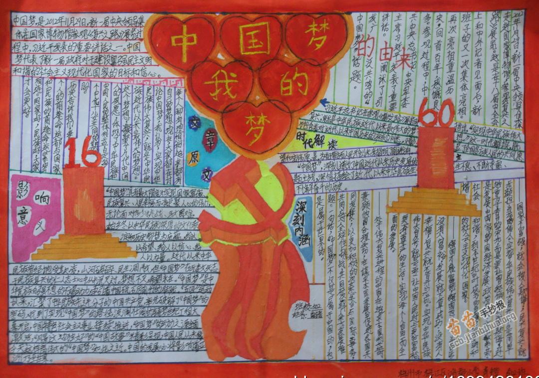 中国梦我的梦手抄报图片、资料