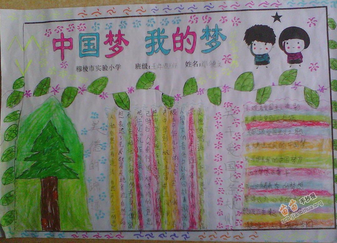 五年级中国梦我的梦手抄报图片 资料