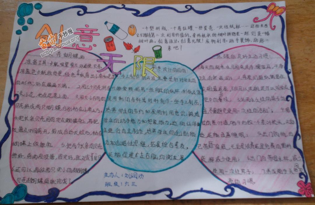 小学六年级创意无限手抄报