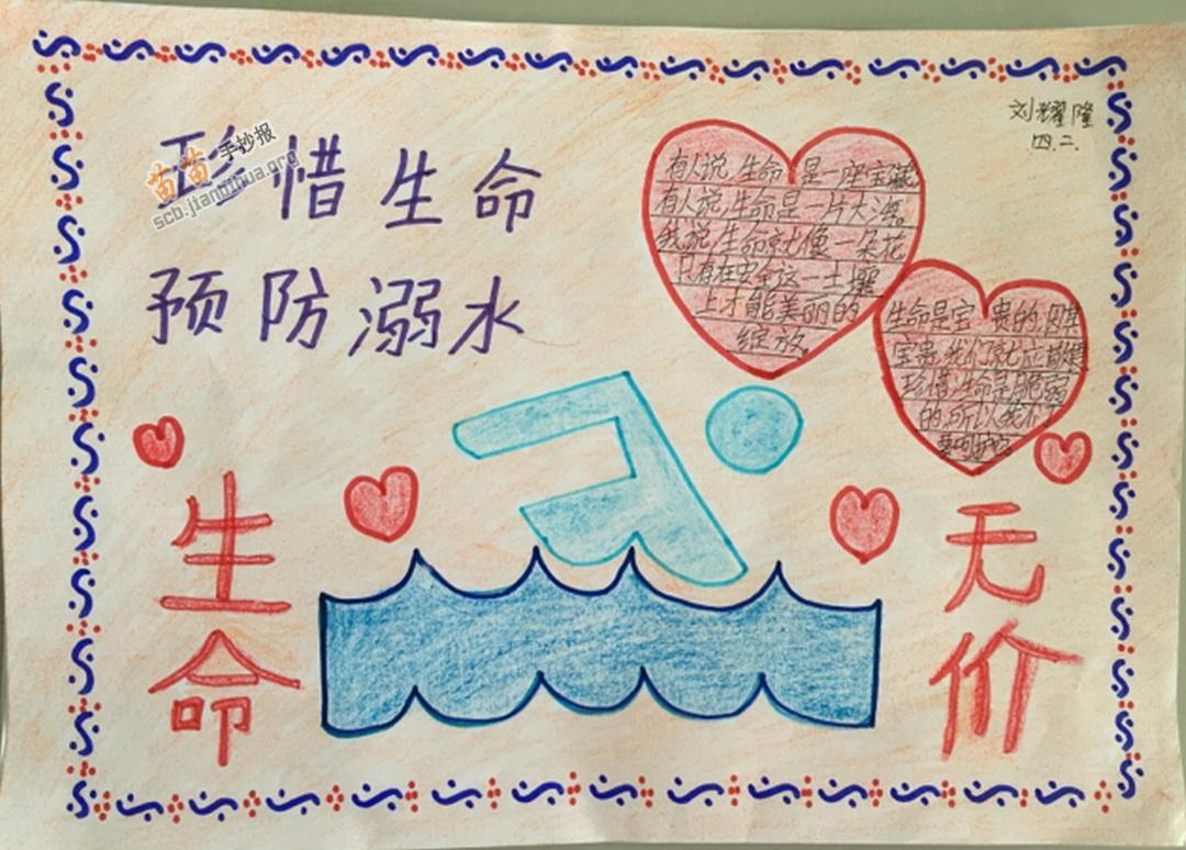 珍惜生命预防溺水手抄报图片、资料