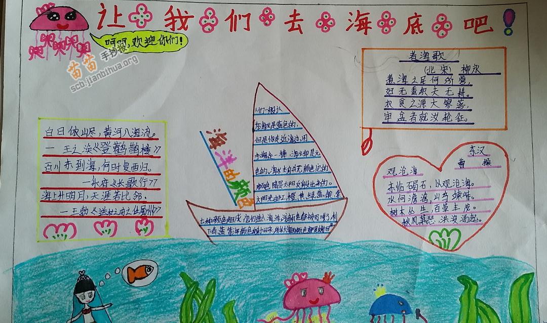 小学生手抄报 >> 正文内容       星期六,妈妈说要带我们去海底世界玩