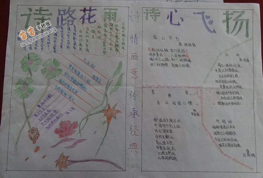 诗情画意传承经典手抄报图片,资料