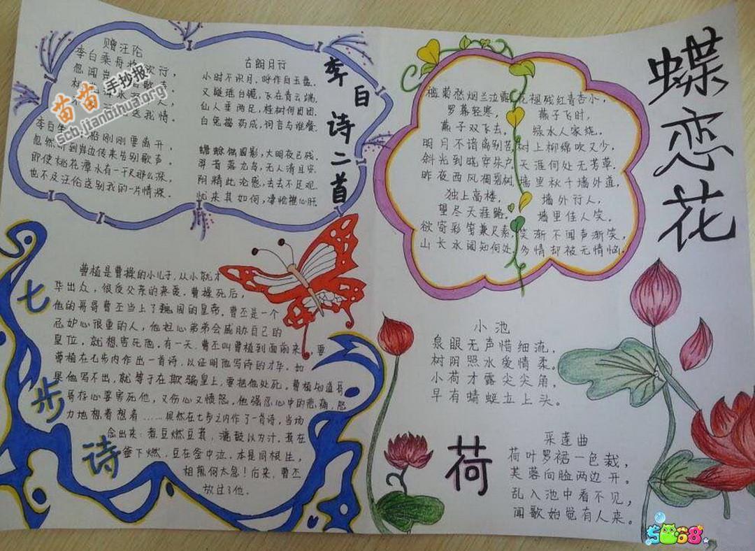 关于李白的古诗手抄报图片大全,资料图片