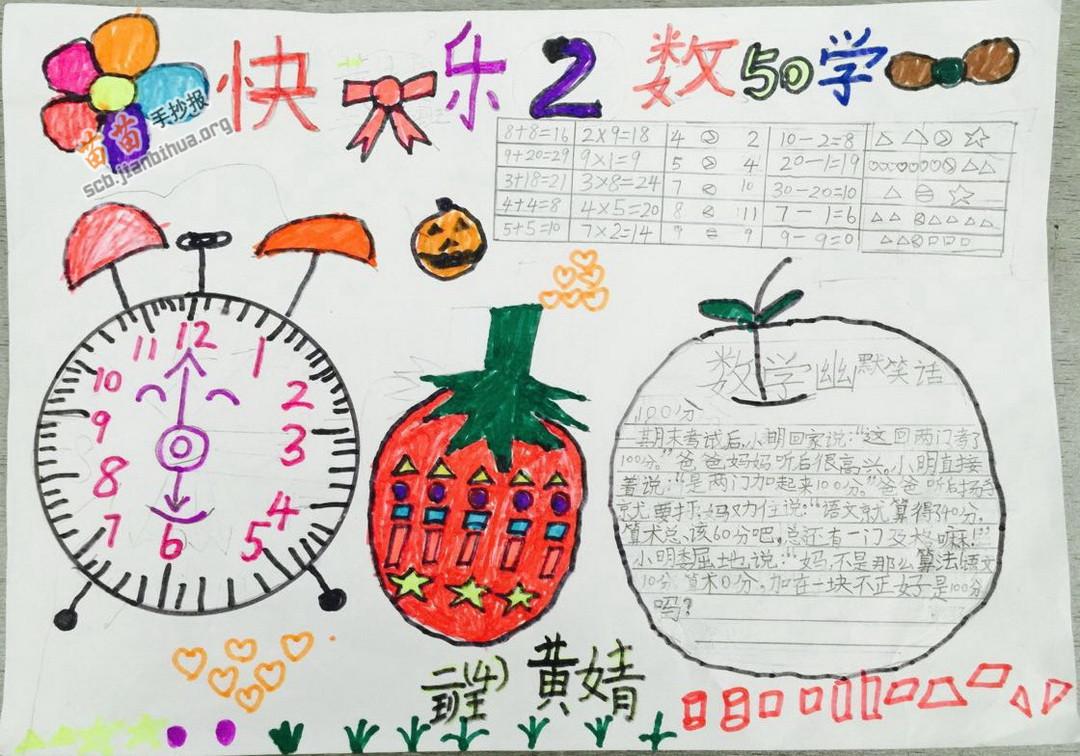 小学生快乐数学手抄报图片大全,资料