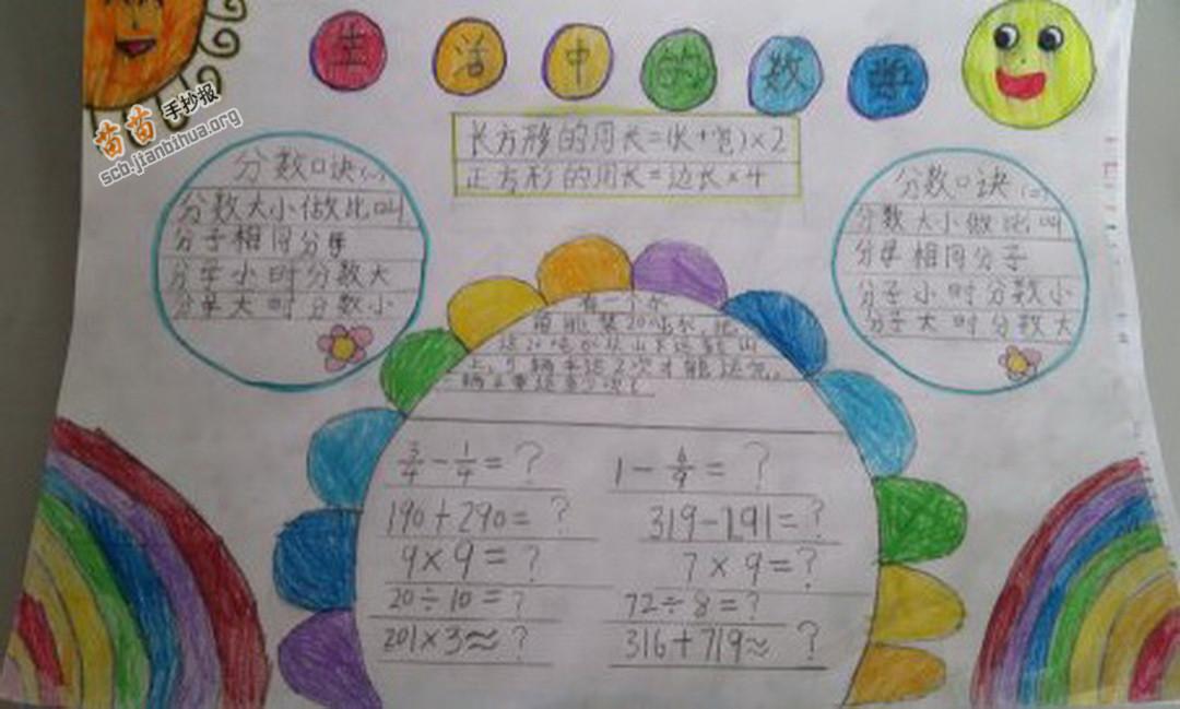 生活中的数学手抄报图片大全 内容图片