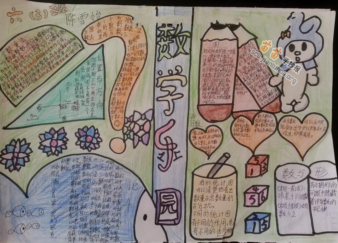 五年级数学乐园手抄报图片大全,资料