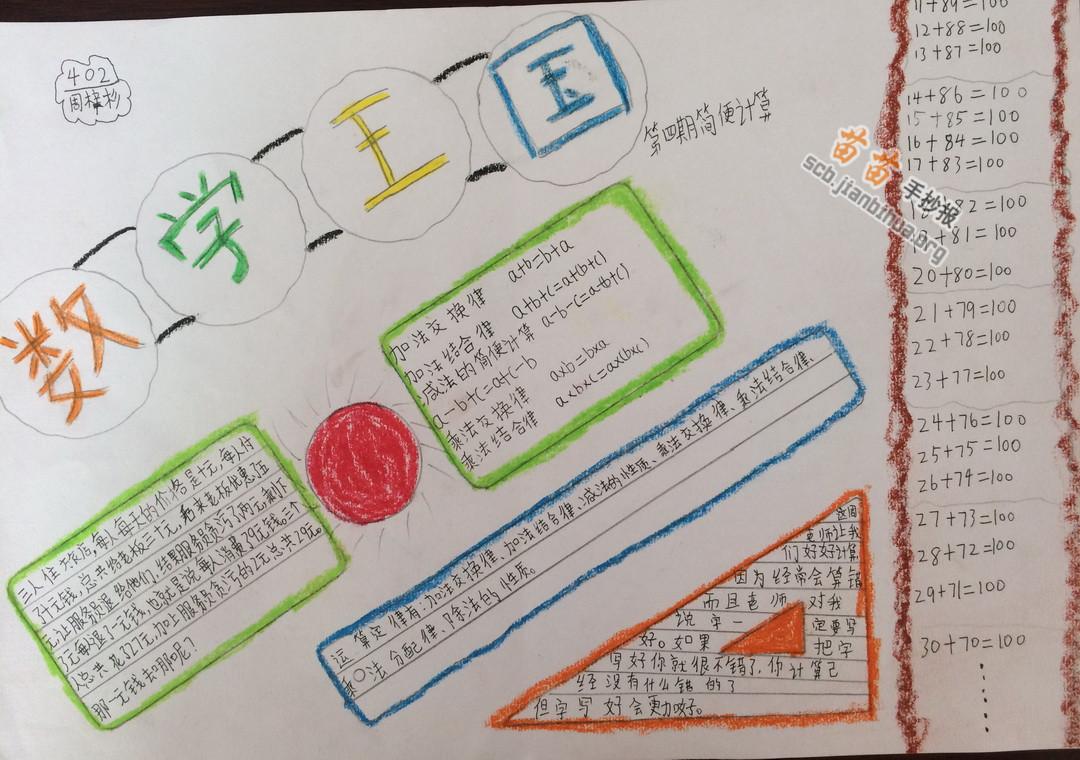 数学王国手抄报图片