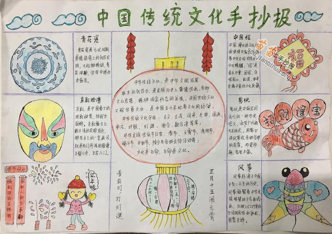 小学生中国传统文化手抄报图片大全,内容