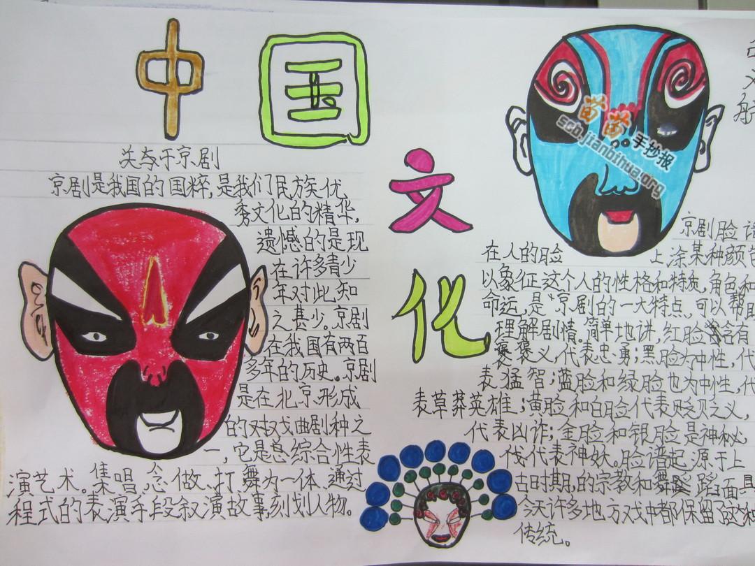 三年级中国传统文化手抄报图片大全,资料