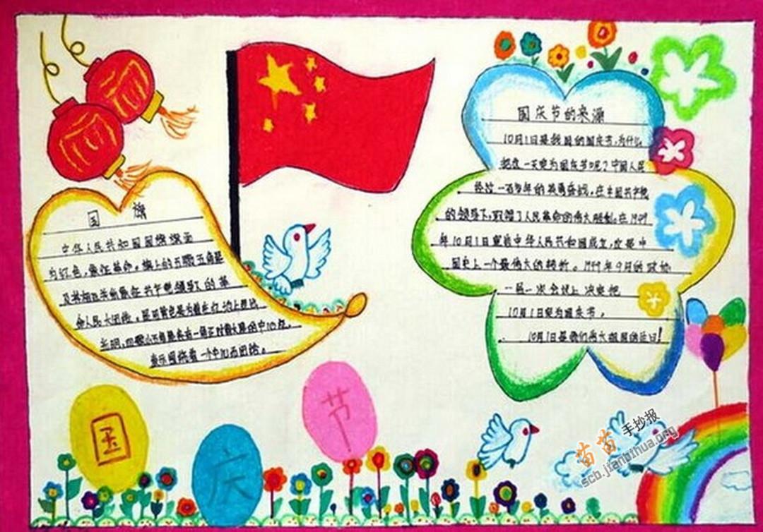 国庆节手抄报图片