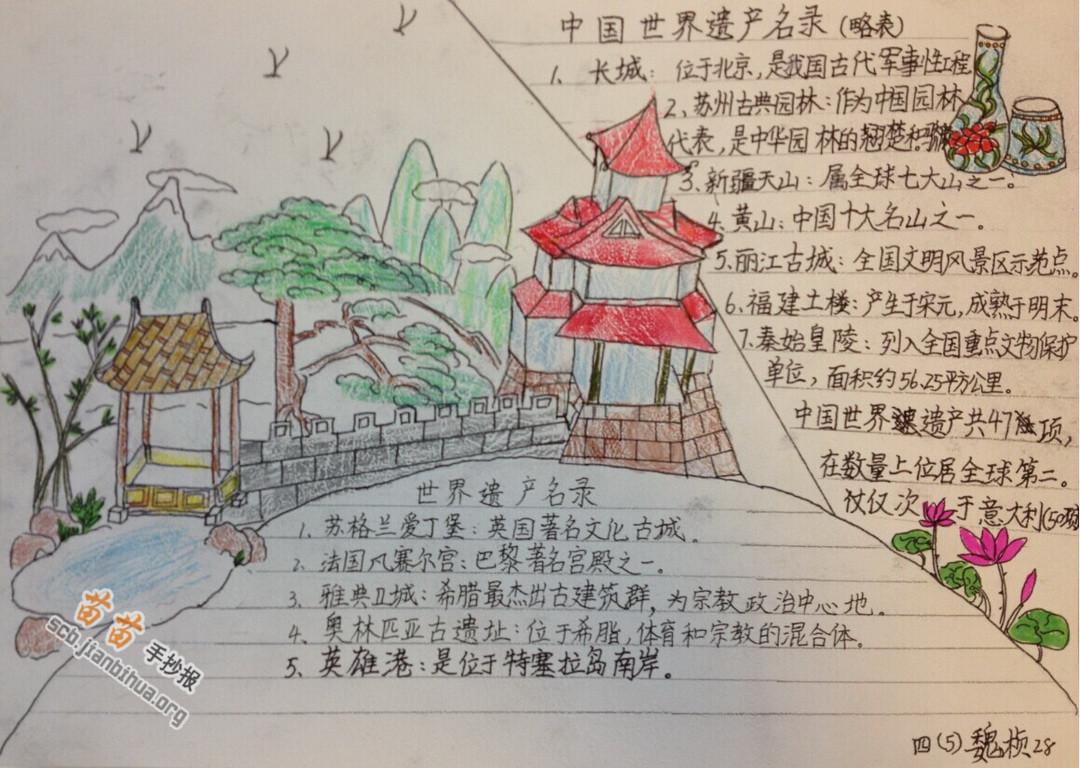 中国的世界遗产手抄报图片大全_小报吧