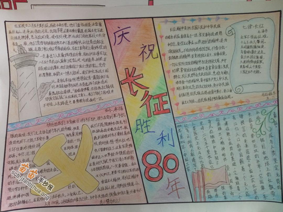 长征胜利80周年手抄报图片