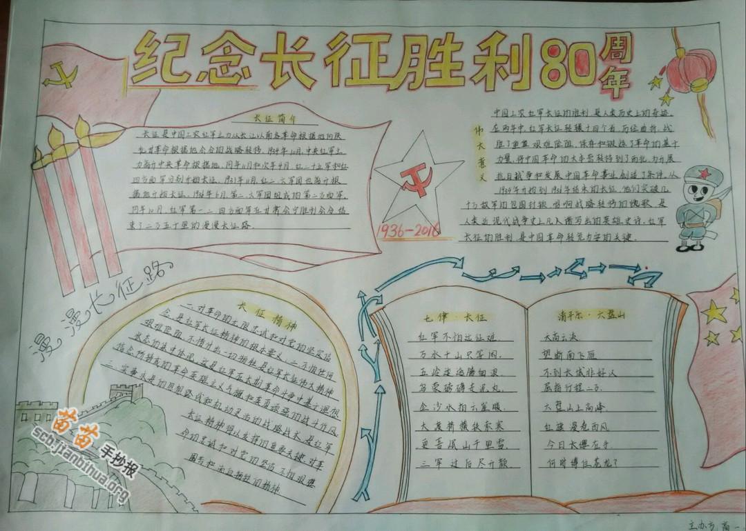 长征胜利80周年手抄报图片大全,资料