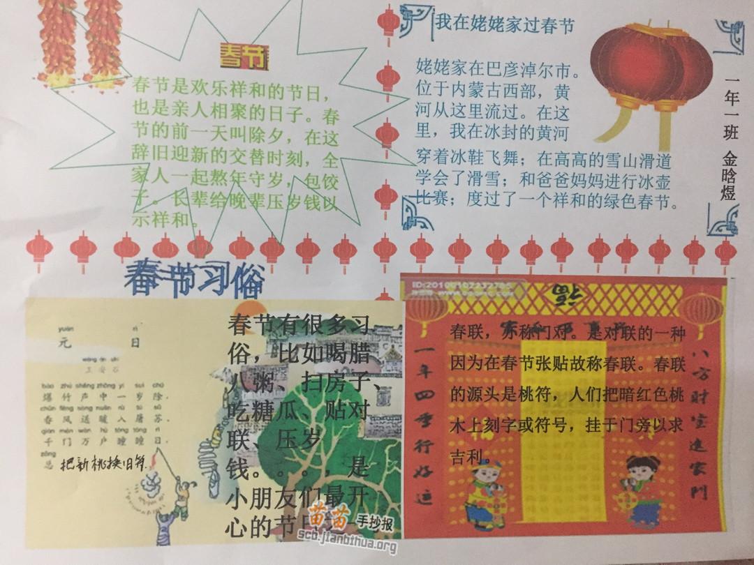 关于春节电子手抄报图片