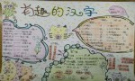 有趣的汉字手抄报图片大全、内容