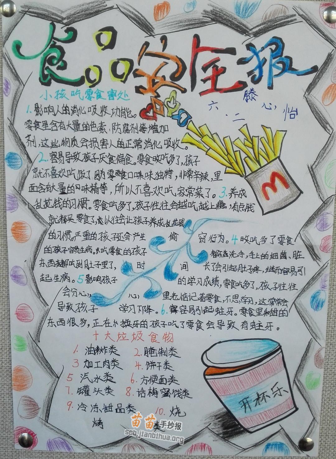 鹿-简笔画_小学生食品安全手抄报图片大全、内容