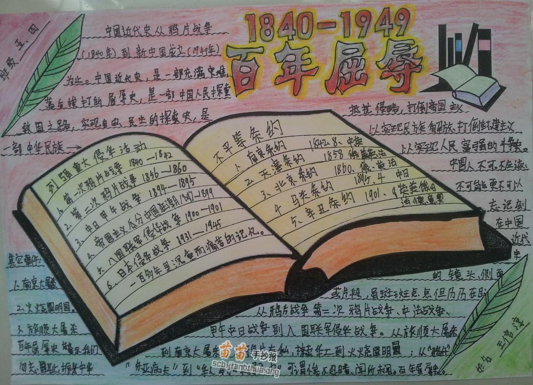 1984-1949百年屈辱历史手抄报图片,资料
