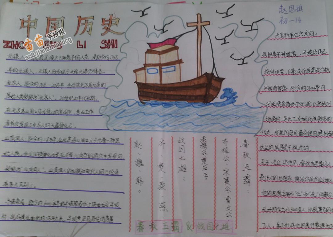 中国历史手抄报图片,资料