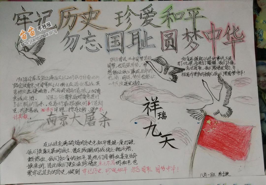 振兴中华的简笔画_牢记历史珍爱和平勿忘国耻圆梦中华手抄报图片大全、资料