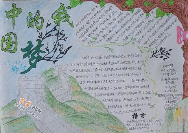 六年级我的中国梦手抄报图片大全,资料