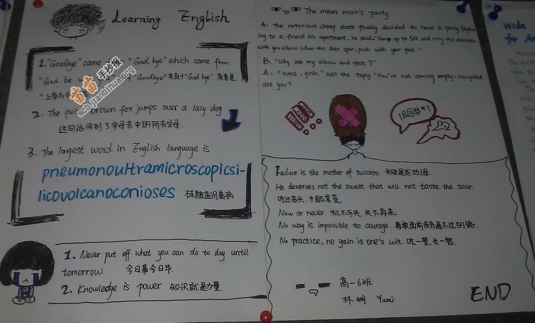 Learn English 学习英语手抄报图片