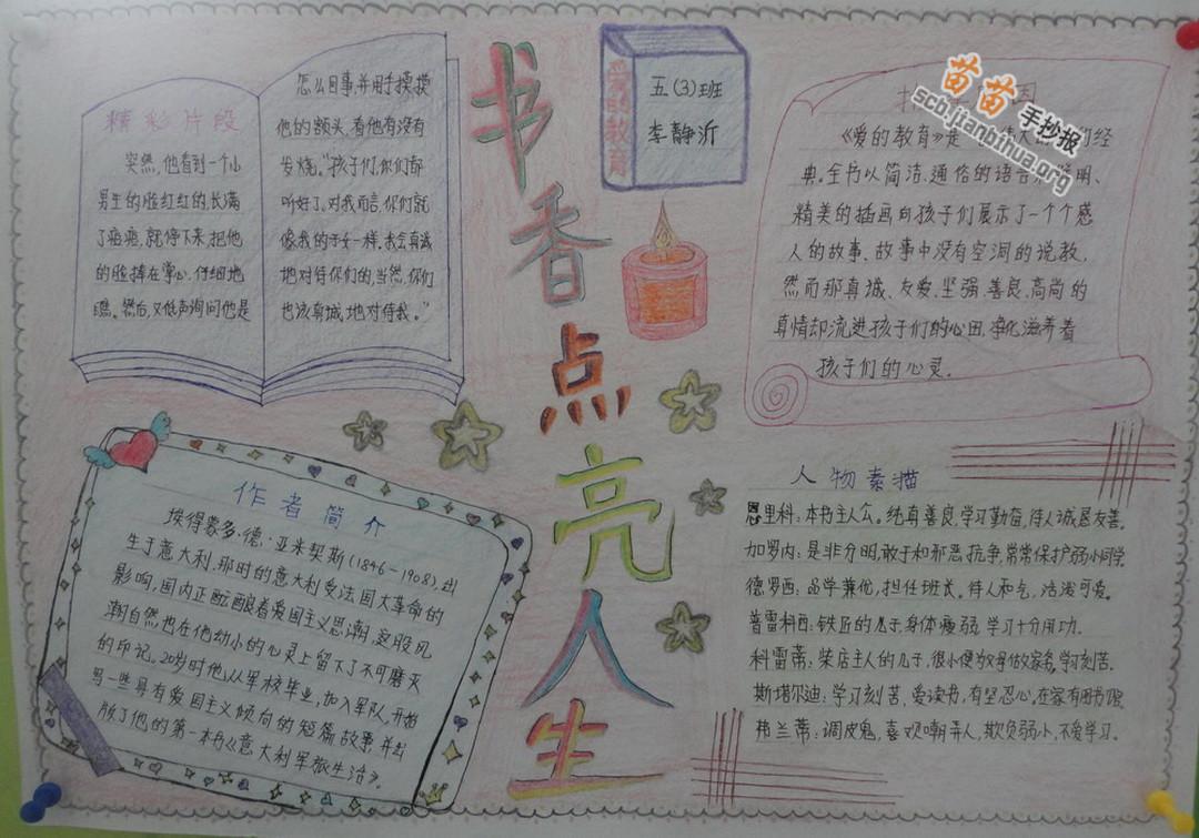 外国文学名著大全_关于书香的手抄报图片大全、资料