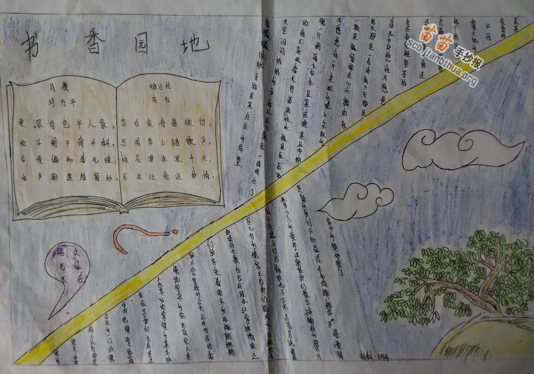书香园地手抄报图片