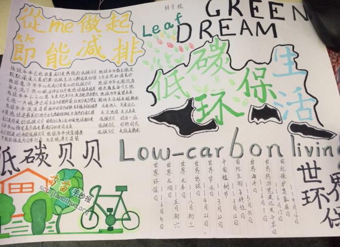 低碳环保生活手抄报图片,资料