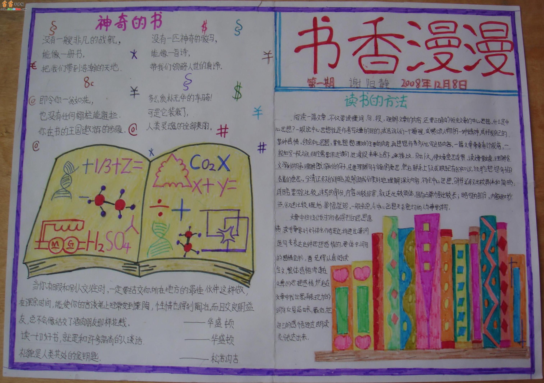 读书手抄报A3版面设计图