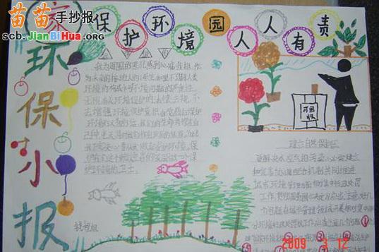 小学生爱护环境手抄报