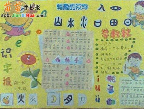 关于汉字的手抄报图片