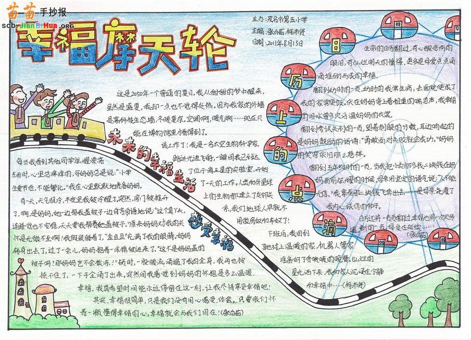 春节习俗手抄报图片,一年级关于我英语手抄报