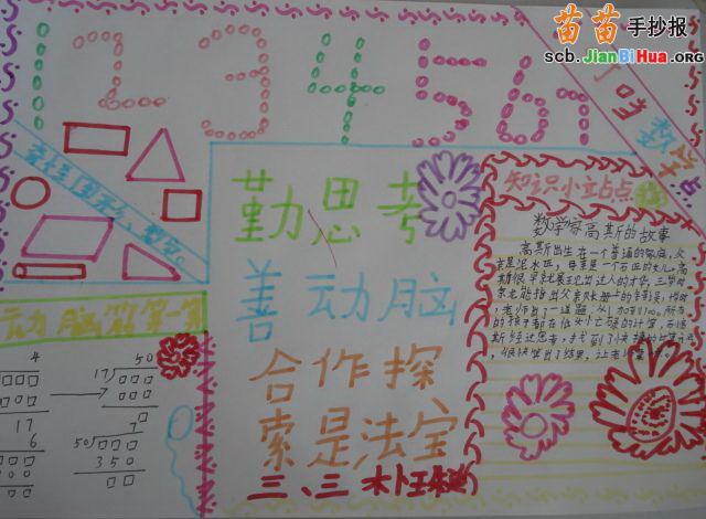 幼儿园12345手抄报